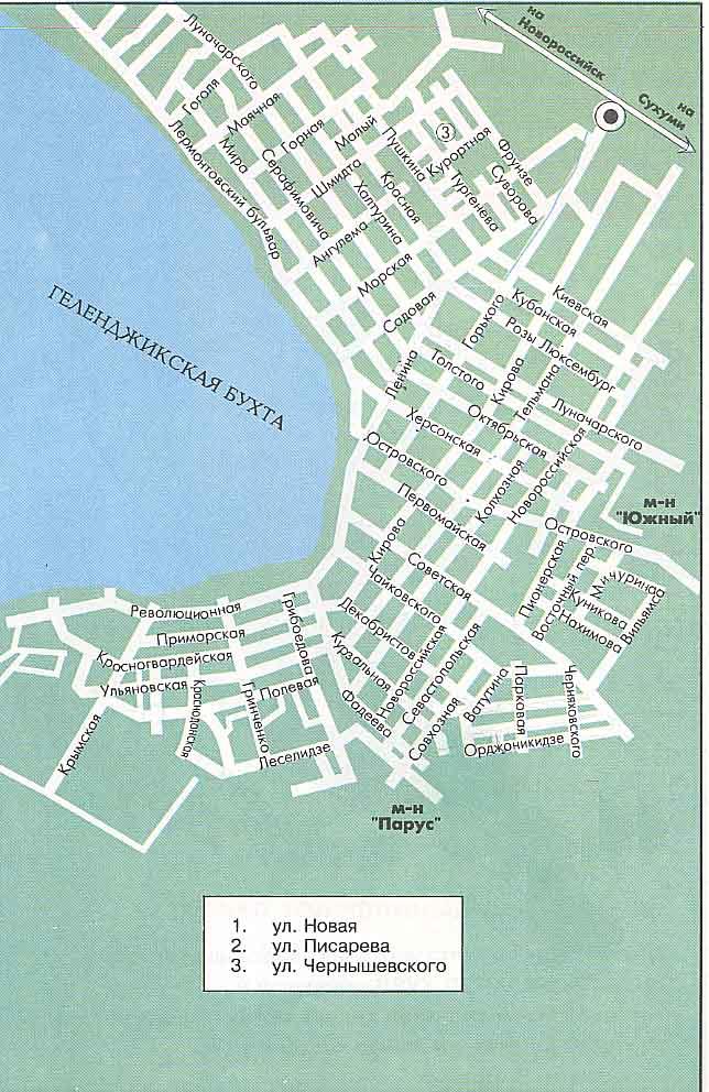 Геленджик, Карта города